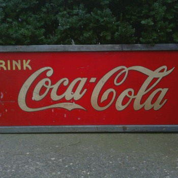 1940's Drug Store Style Coca Cola Sign