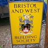 Bristol & West Building Society Metal Sign
