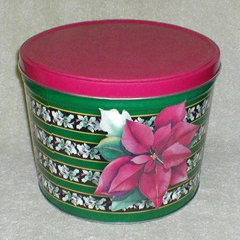 Christmas Tin - Poinsettias