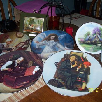 thomas kinkade/norman rockwell plates  - China and Dinnerware