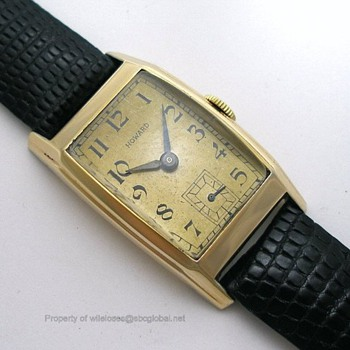 "1946 Hamilton ""Howard"" Wrist Watch - Wristwatches"