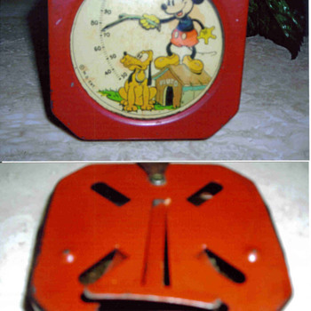 Mickey Mouse Thermometer 1934 to 1938 acquired