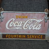 Cola Cola cast iron sign Fountain Service!