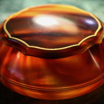 Faux Tortoise Shell Celluloid Dresser Set