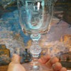 "etched crystal ""laurel"" ??w/ golf ball stem..."