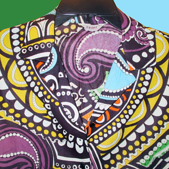 Vintage 1960s Psychedelic Hippie Women's Top / Lt. Jacket by Graff