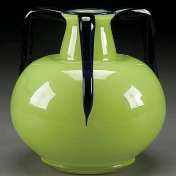 Loetz 3-handle Shape #12 - Jug - Art Glass