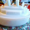 "1900 Milk Glass ship Oregon, Mustard Container  ""Remember The Maine"" Spanish American War 1898"
