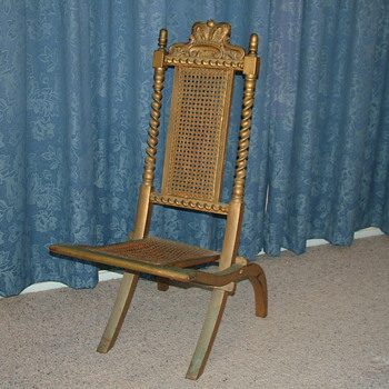 My great grandmother's folding picnic chair