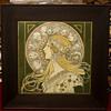 Alphonse Mucha  Zodiac print in original frame