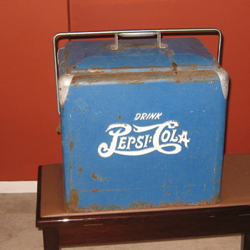 1940's-50's Pepsi Cola Picnic Cooler - Advertising