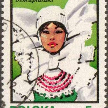 "Poland - ""Traditional Hats"" Postage Stamps"