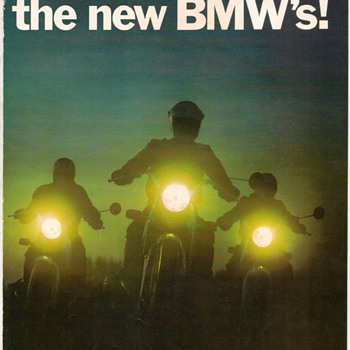 1970 - BMW Motorcycles Advertisement Pamphlet - Advertising