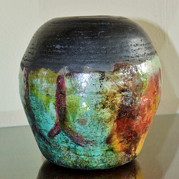 Raku VaseMy favorite find this past weekend :).