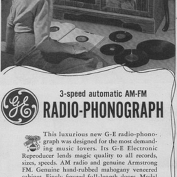 1950 - General Electric Model 755 Radio/Phono Advertisement - Advertising