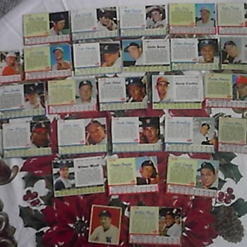 1961-63 Post baseball cards - Baseball