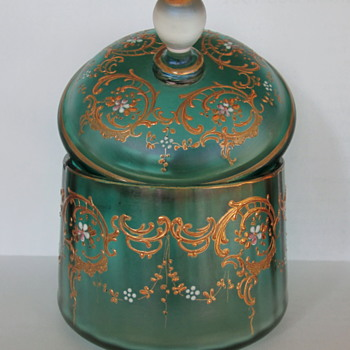 Loetz Blattgrün Verlaufend Box c1900 - Art Nouveau