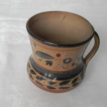 """Museum Quality"" Mexican Indian Mug from Capt. C. W. Higgs"