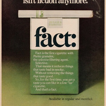 1976 - FACT: Cigarettes Advertisement - Advertising