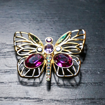Swarovski Butterfly - Costume Jewelry