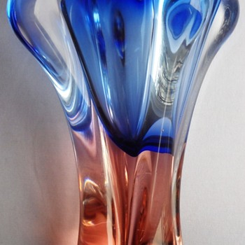 JOSEF HOSPODKA vase, Chribska glassworks, Czech, 1960s -1970s