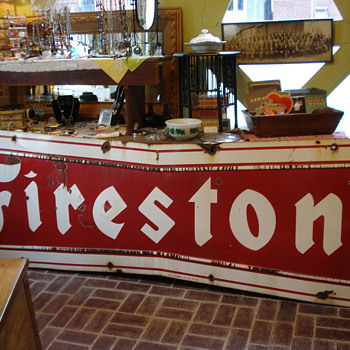 Vintage Firestone Sign, my newest find! It hung in Fairfield Illinois! - Signs
