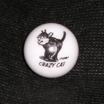 My Crazy Cat Marble - Art Glass