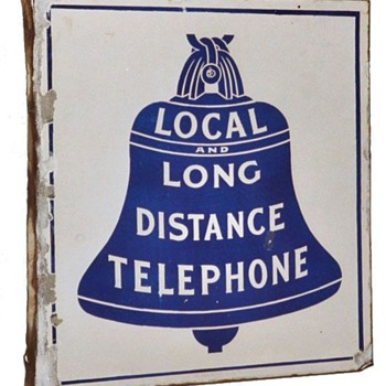 Local and Long Distance Porcelain Sign - Signs