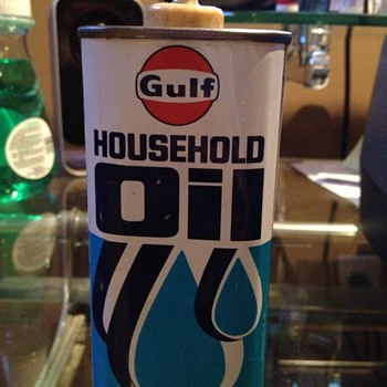 gulf household oil can - Petroliana