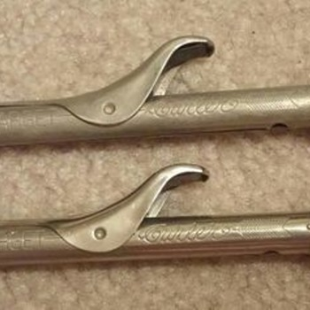 "Antique Curling Irons ""Target Curler"""