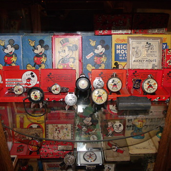 A Veiw of a couple Mickey Shelves