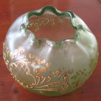 Rose bowl, most probably Bohemian - Art Glass