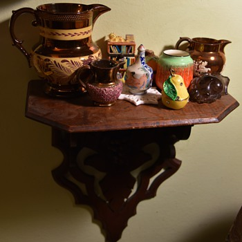 a few vignettes around my crammed little house - Pottery