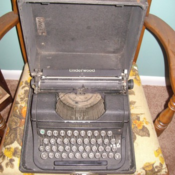 "Older ""Underwood"" typewriter"