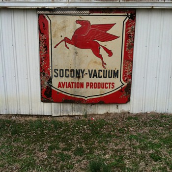 pegasus socony-vacuum aviation sign