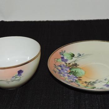 Nippon Cup & Saucer - Asian