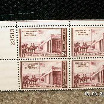 1946 Stephen Watts Kearny Expedition 3¢ Stamps - Stamps