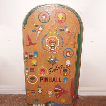 "Vintage Pinball ""Deluxe Pinball"" Unknown Marker"