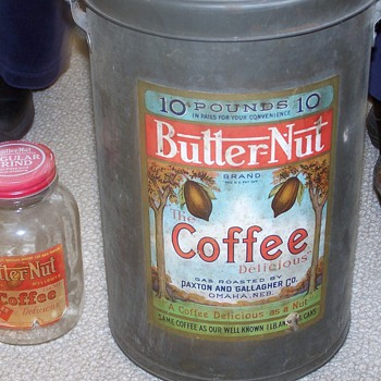 Butter-Nut Coffee Collection Tins/Bottles - Advertising