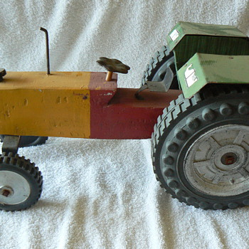 Vintage wooden tractor