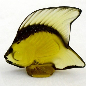 lALIQUE ANGEL FISH: GREENS (1) - Art Glass