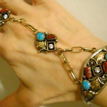 80's Harry B Yazzie Navajo Slave Bracelet