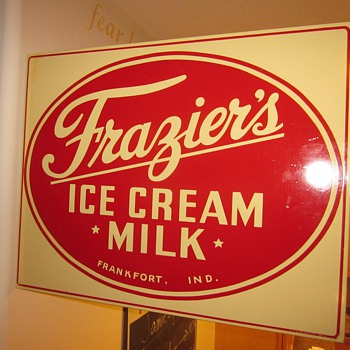 Frazier's Ice Cream Milk Double Sided Flange Dairy Sign - Signs