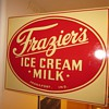 Frazier's Ice Cream Milk Double Sided Flange Dairy Sign