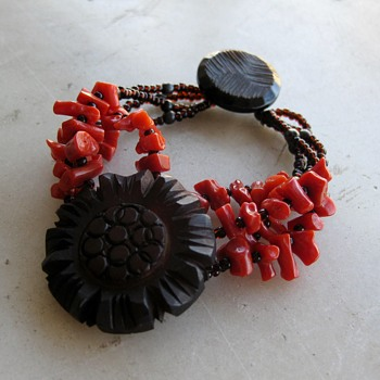 Old coral beads get a new life w/bakelite & silver components  - Fine Jewelry