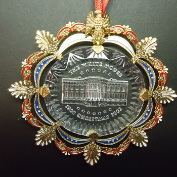 cristal glass WHITE HOUSE ORNAMENT - Christmas