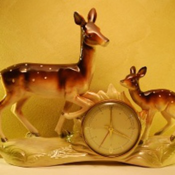 Jema Holland (459) Deer With Fawn Mantle Clock