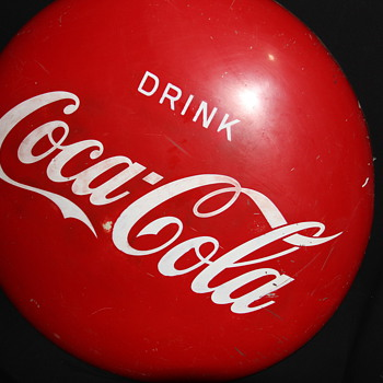 Drink Coca Cola Disc. 36 inches across. year ?? - Coca-Cola