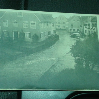 Early 1900's Postcard of a Flooding Town