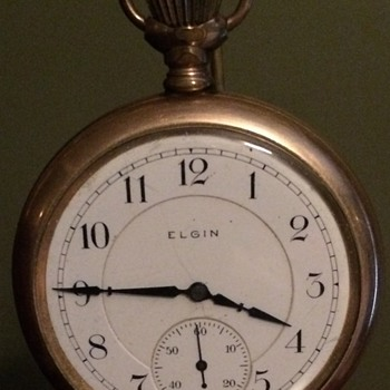 My 2nd Great Uncles' Gold Elgin Pocket Watch